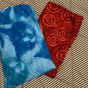 2 pair LulaRoe tall&curvy leggings! Great designs!